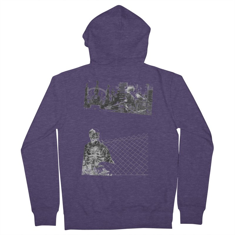 History is never black and white Men's French Terry Zip-Up Hoody by Lads of Fortune Artist Shop