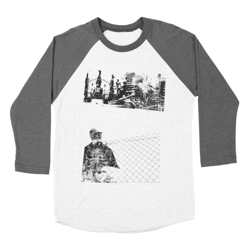History is never black and white Women's Baseball Triblend Longsleeve T-Shirt by Lads of Fortune Artist Shop