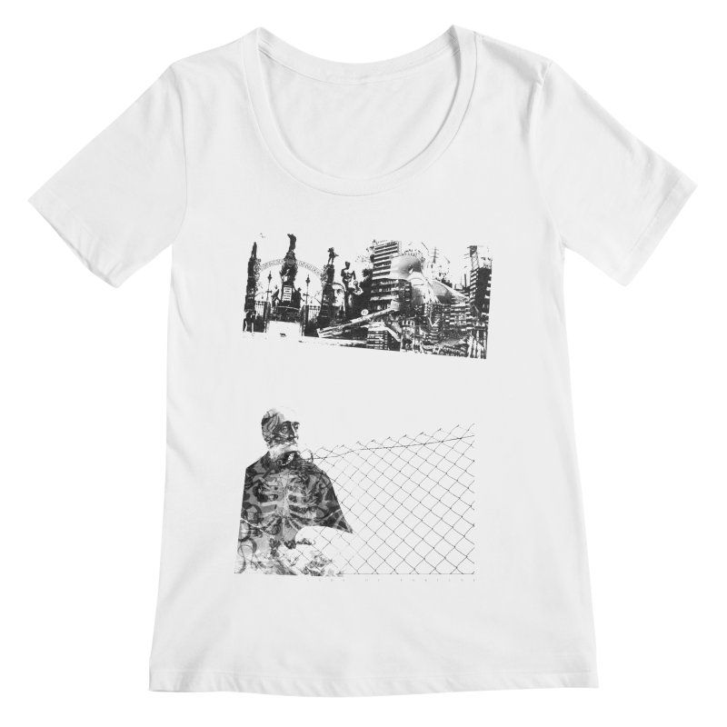 History is never black and white Women's Regular Scoop Neck by Lads of Fortune Artist Shop