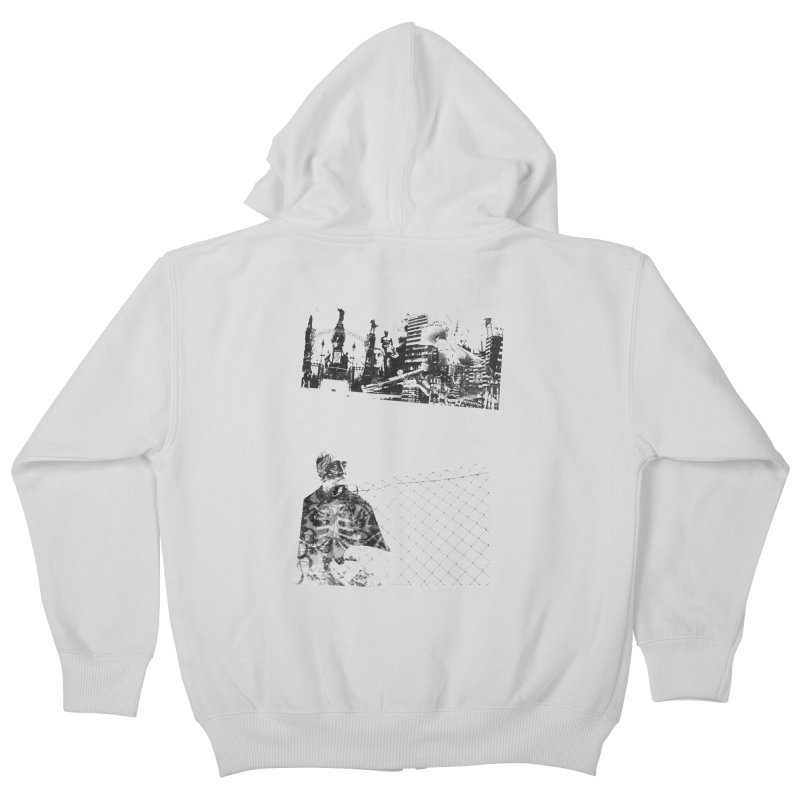 History is never black and white Kids Zip-Up Hoody by Lads of Fortune Artist Shop