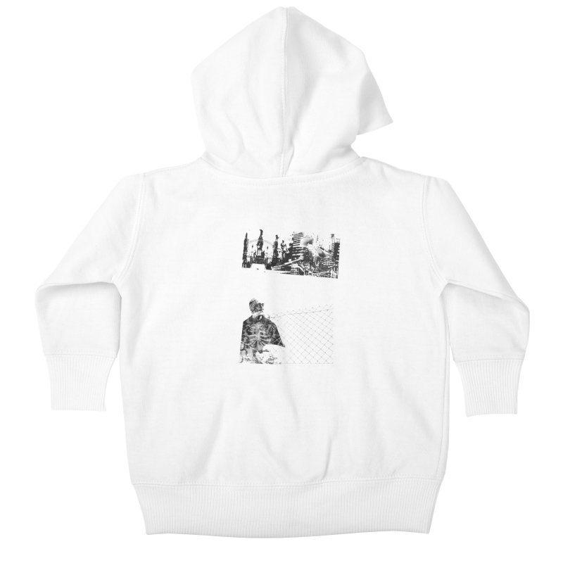 History is never black and white Kids Baby Zip-Up Hoody by Lads of Fortune Artist Shop