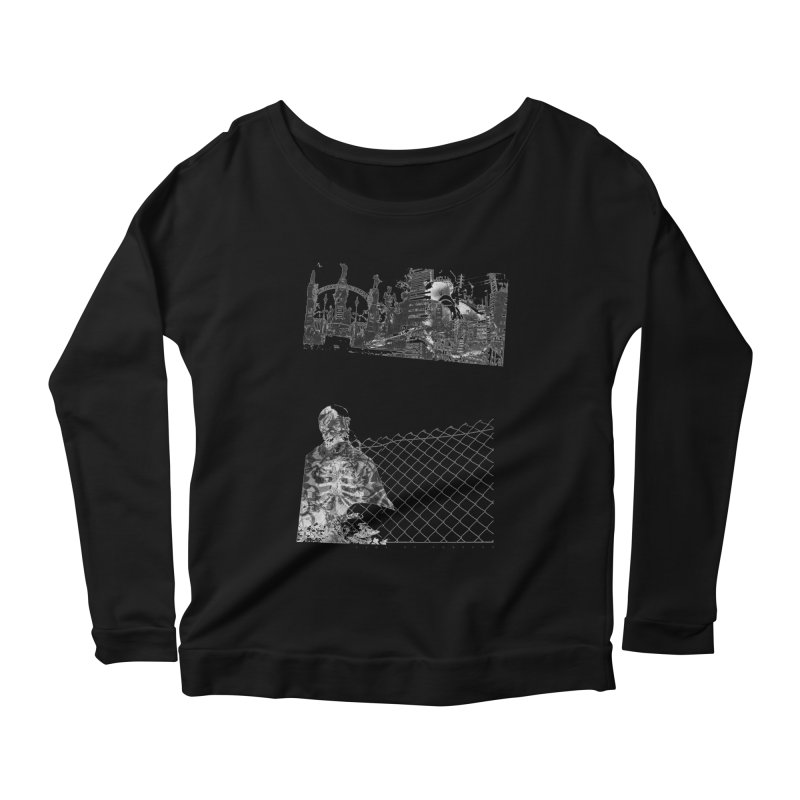 History is never black and white Women's Longsleeve Scoopneck  by Lads of Fortune Artist Shop