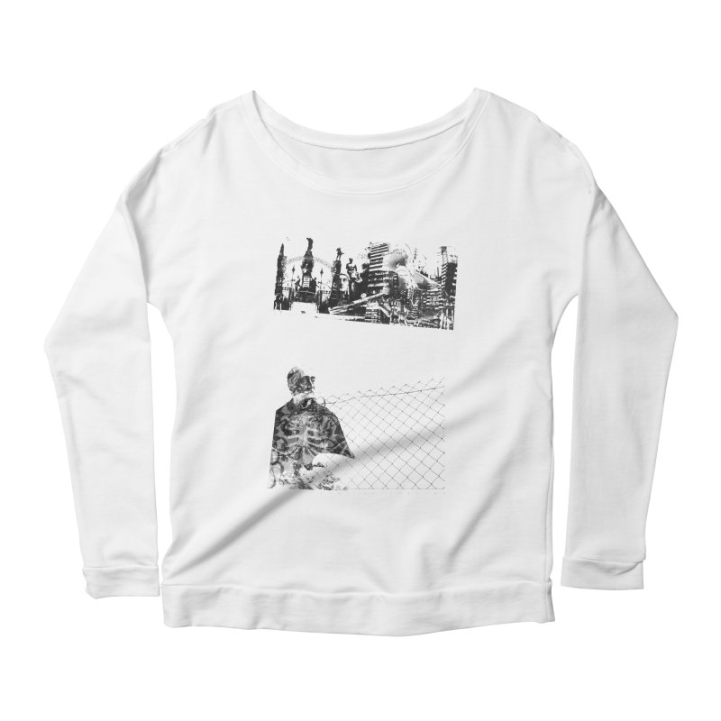 History is never black and white Women's Scoop Neck Longsleeve T-Shirt by Lads of Fortune Artist Shop