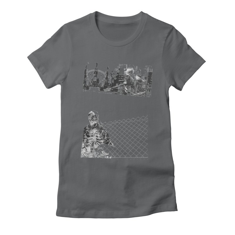 History is never black and white Women's Fitted T-Shirt by Lads of Fortune Artist Shop