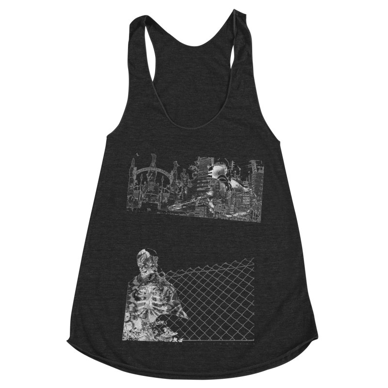 History is never black and white Women's Racerback Triblend Tank by Lads of Fortune Artist Shop