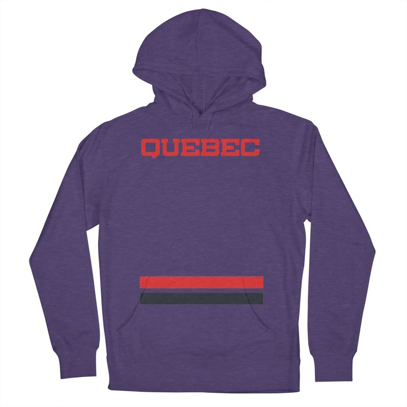 Quebec Hockey Jersey  Women's Pullover Hoody by Lads of Fortune Artist Shop