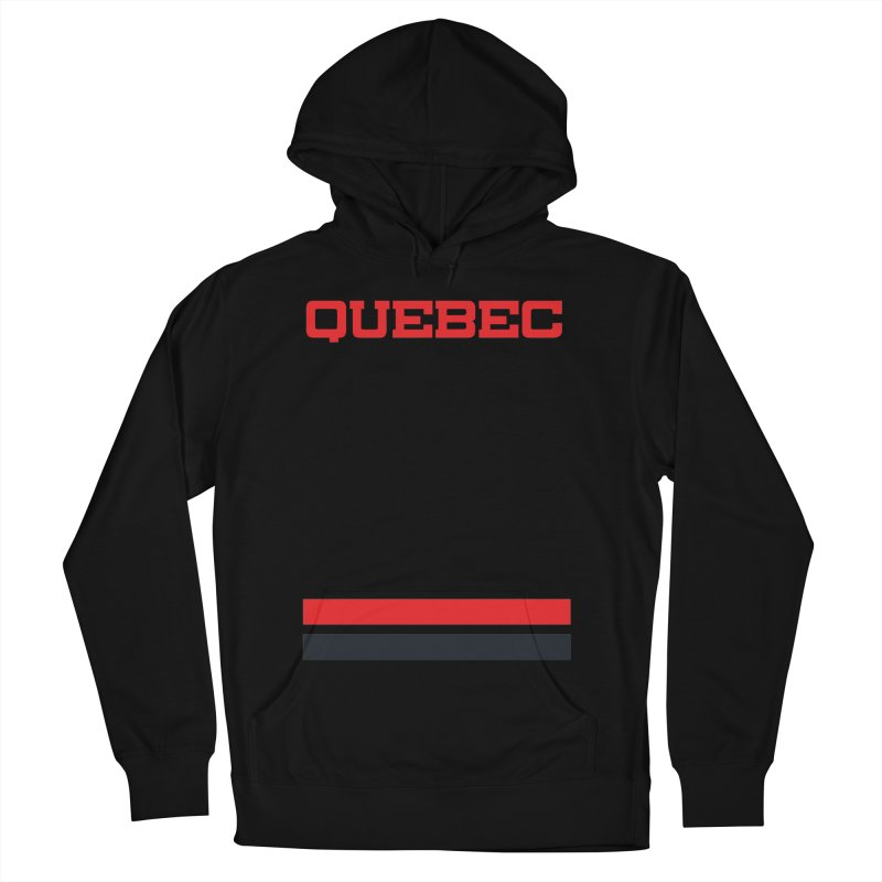Quebec Hockey Jersey  Women's French Terry Pullover Hoody by Lads of Fortune Artist Shop