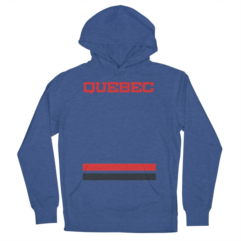 Quebec Hockey Jersey  Men's French Terry Pullover Hoody by Lads of Fortune Artist Shop