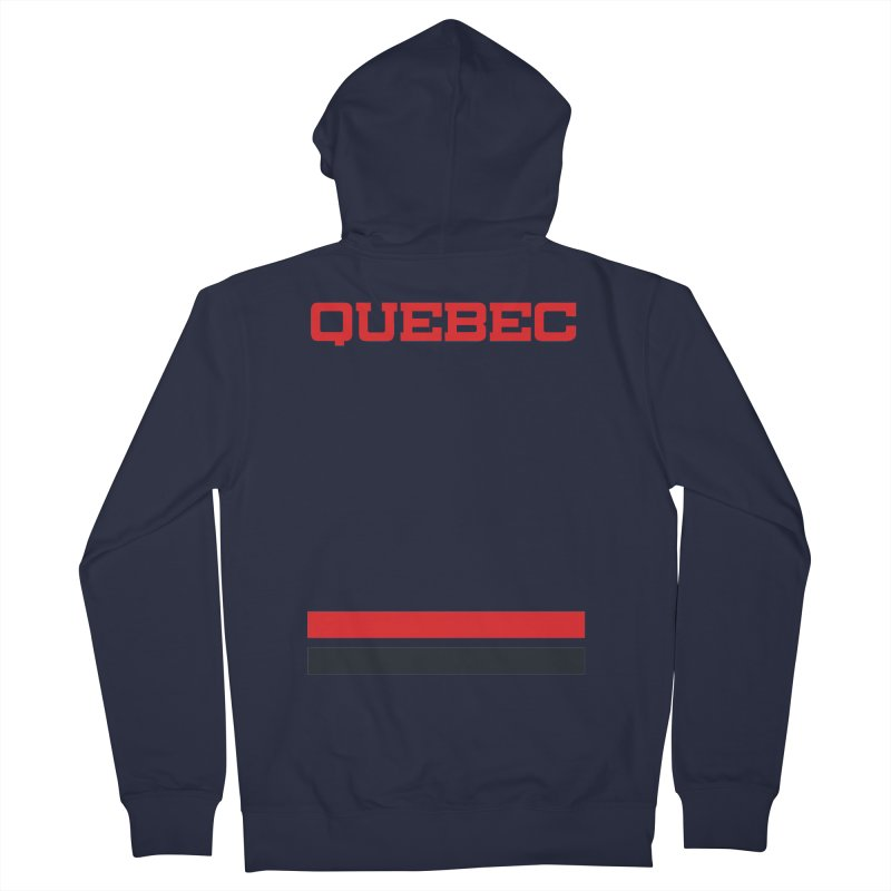 Quebec Hockey Jersey  Women's French Terry Zip-Up Hoody by Lads of Fortune Artist Shop