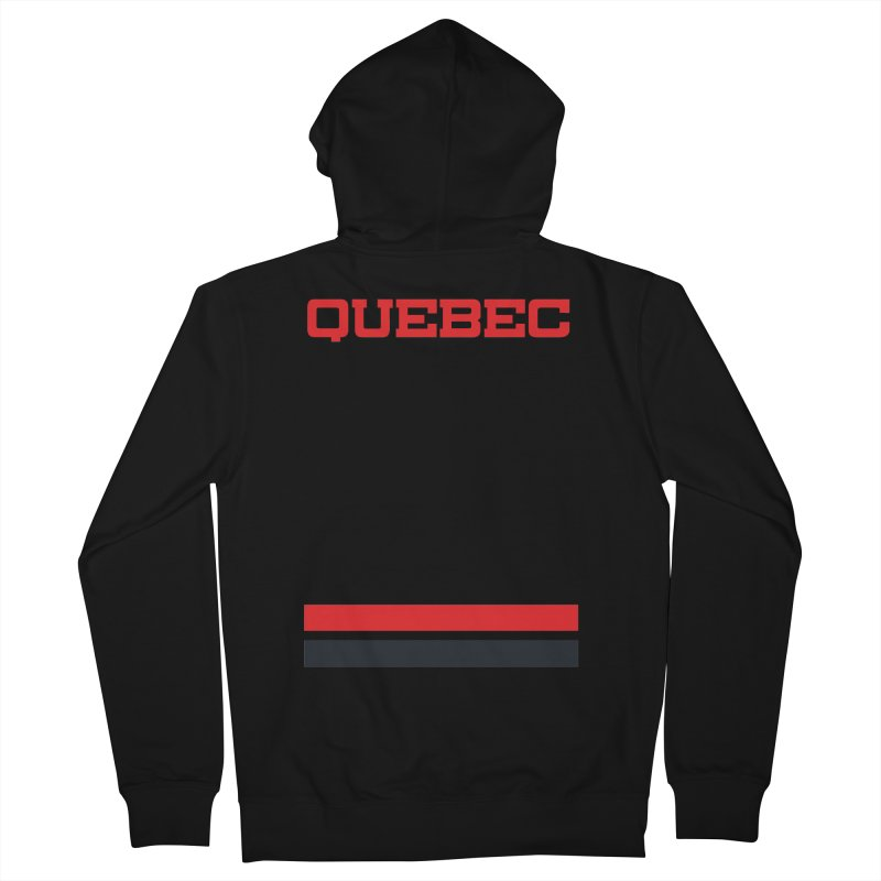 Quebec Hockey Jersey  Men's Zip-Up Hoody by Lads of Fortune Artist Shop