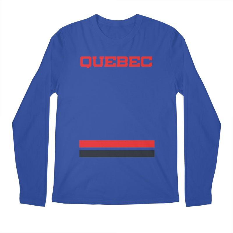 Quebec Hockey Jersey  Men's Regular Longsleeve T-Shirt by Lads of Fortune Artist Shop