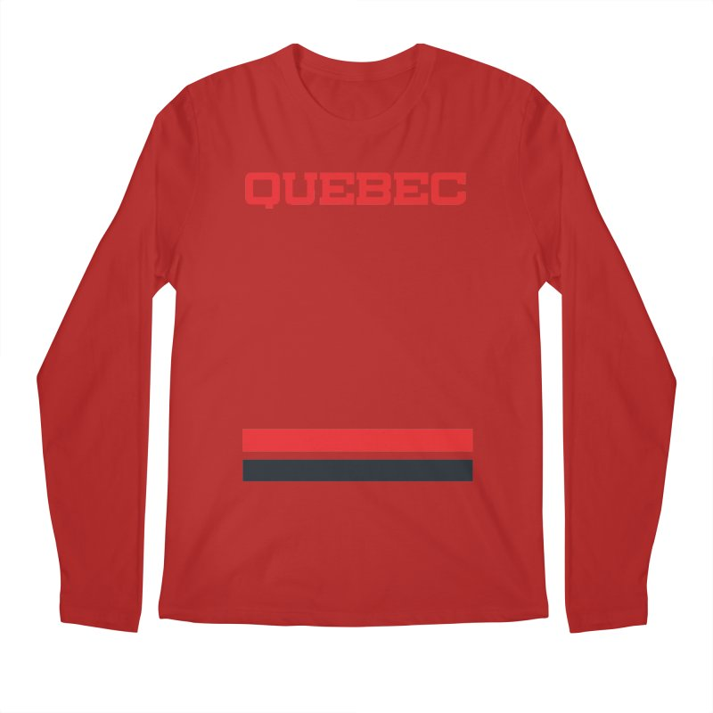 Quebec Hockey Jersey  Men's Longsleeve T-Shirt by Lads of Fortune Artist Shop