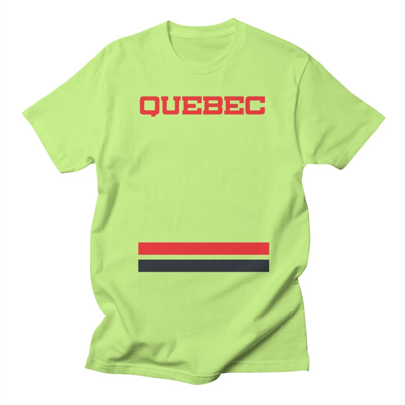 Quebec Hockey Jersey  Men's Regular T-Shirt by Lads of Fortune Artist Shop