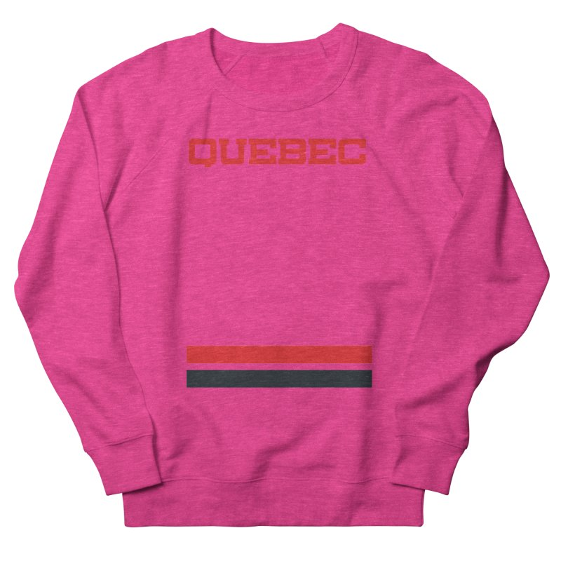 Quebec Hockey Jersey  Women's French Terry Sweatshirt by Lads of Fortune Artist Shop