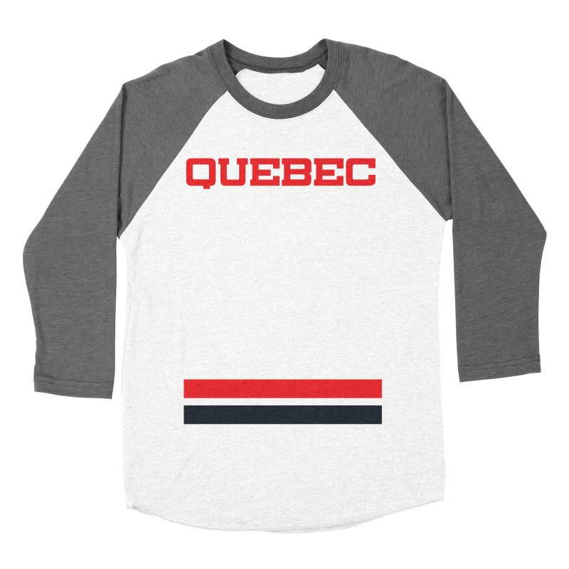 Quebec Hockey Jersey  Women's Baseball Triblend Longsleeve T-Shirt by Lads of Fortune Artist Shop