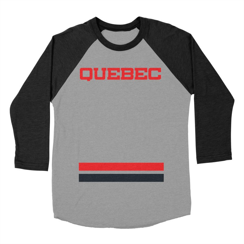 Quebec Hockey Jersey  Women's Baseball Triblend T-Shirt by Lads of Fortune Artist Shop