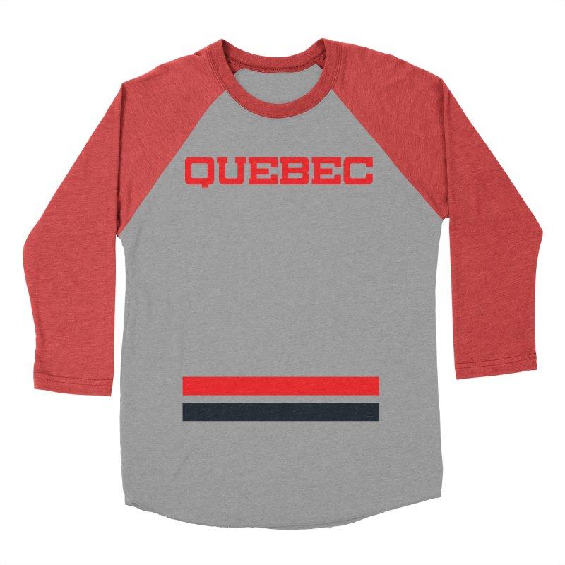 Quebec Hockey Jersey  Men's Baseball Triblend Longsleeve T-Shirt by Lads of Fortune Artist Shop