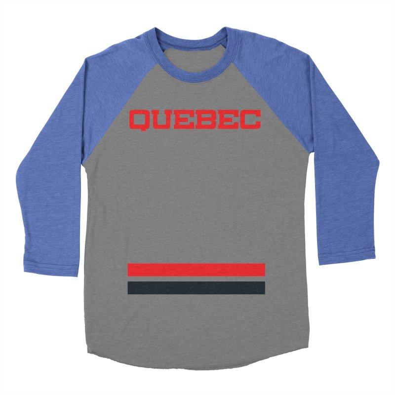 Quebec Hockey Jersey  Men's Baseball Triblend T-Shirt by Lads of Fortune Artist Shop