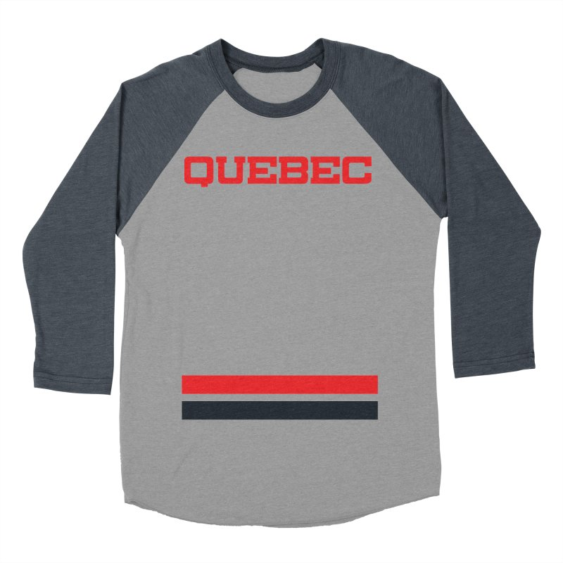 Quebec Hockey Jersey  Men's Baseball Triblend T-Shirt by Lads of Fortune Artist Shop