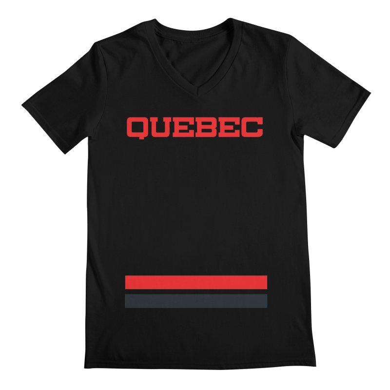 Quebec Hockey Jersey  Men's Regular V-Neck by Lads of Fortune Artist Shop
