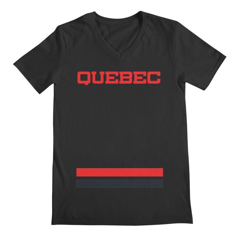 Quebec Hockey Jersey  Men's V-Neck by Lads of Fortune Artist Shop