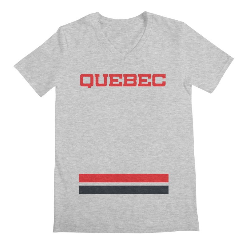 Quebec Hockey Jersey  Men's V-Neck by Lads of Fortune Artist Shop