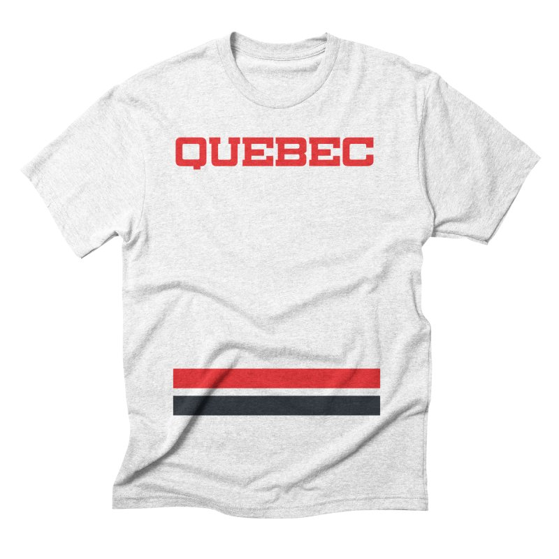Quebec Hockey Jersey  Men's Triblend T-shirt by Lads of Fortune Artist Shop