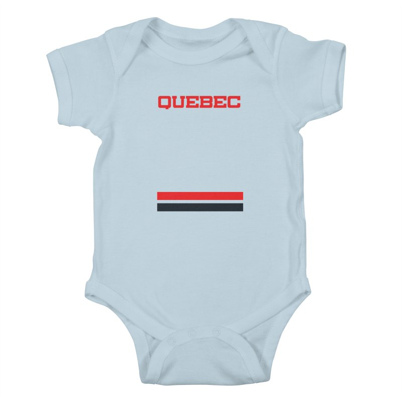 Quebec Hockey Jersey  Kids Baby Bodysuit by Lads of Fortune Artist Shop