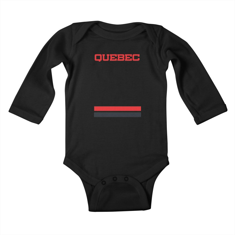 Quebec Hockey Jersey  Kids Baby Longsleeve Bodysuit by Lads of Fortune Artist Shop