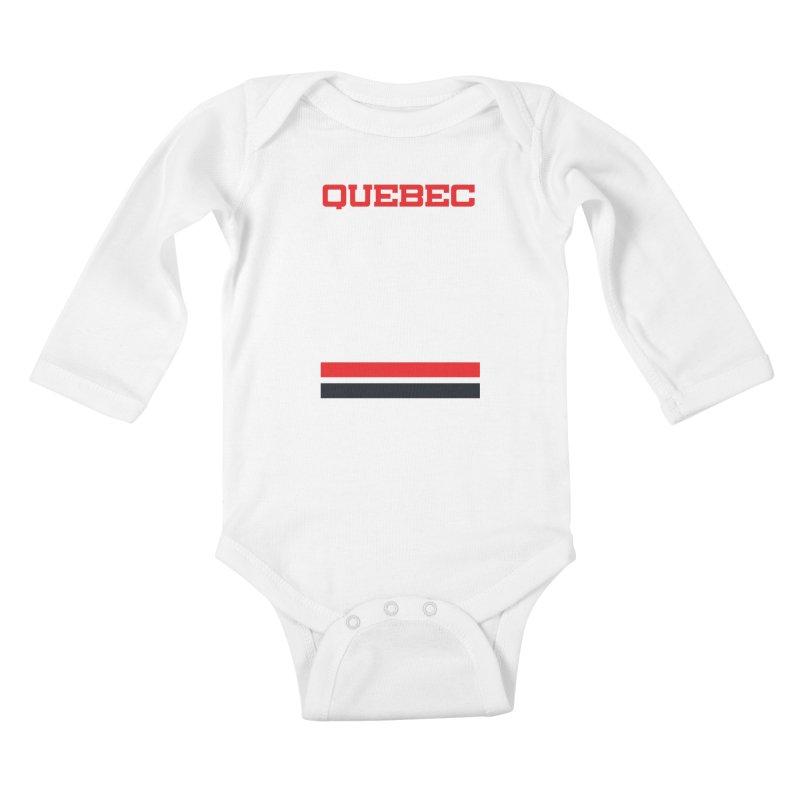 Quebec Hockey Jersey  Kids Baby Longsleeve Bodysuit by Lads of Fortune Artist Shop