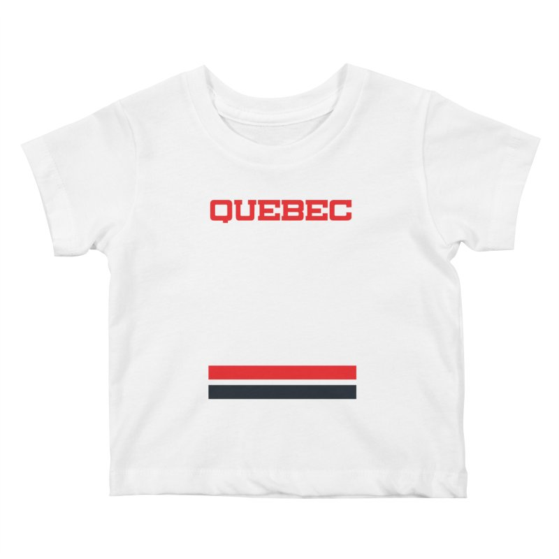 Quebec Hockey Jersey  Kids Baby T-Shirt by Lads of Fortune Artist Shop