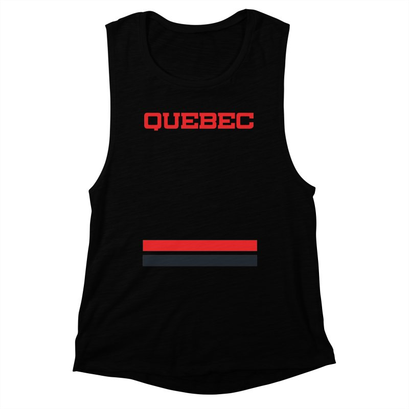 Quebec Hockey Jersey  Women's Muscle Tank by Lads of Fortune Artist Shop