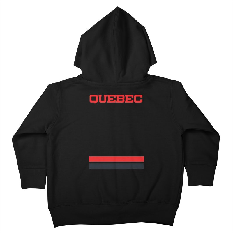 Quebec Hockey Jersey  Kids Toddler Zip-Up Hoody by Lads of Fortune Artist Shop