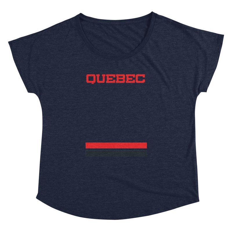 Quebec Hockey Jersey  Women's Dolman by Lads of Fortune Artist Shop