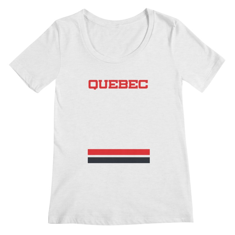 Quebec Hockey Jersey  Women's Scoopneck by Lads of Fortune Artist Shop