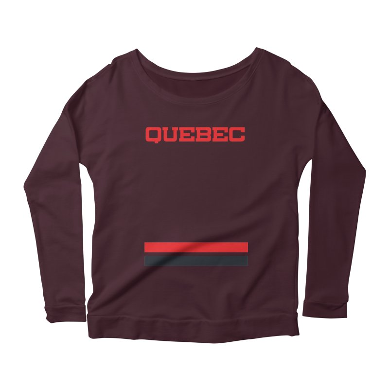 Quebec Hockey Jersey  Women's Longsleeve Scoopneck  by Lads of Fortune Artist Shop