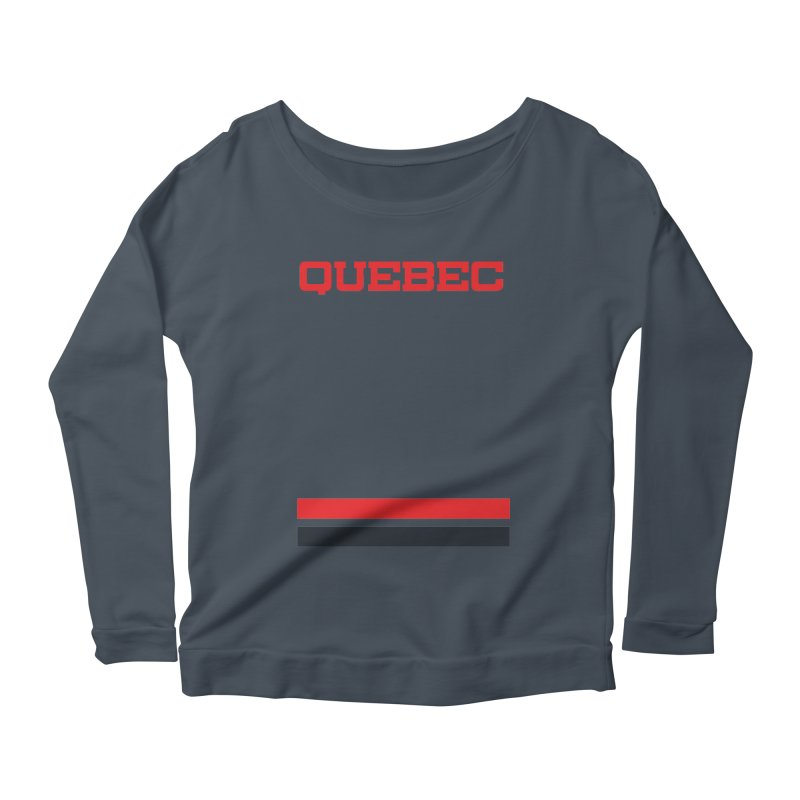 Quebec Hockey Jersey  Women's Scoop Neck Longsleeve T-Shirt by Lads of Fortune Artist Shop
