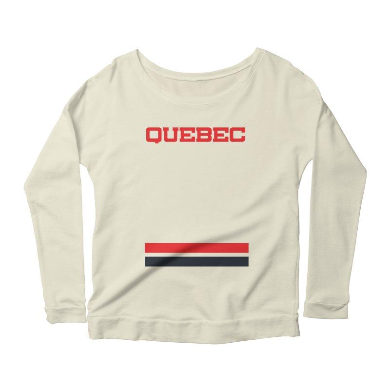 Quebec Hockey Jersey  Women's Longsleeve Scoopneck  by Lads of Fortune Artist Shop