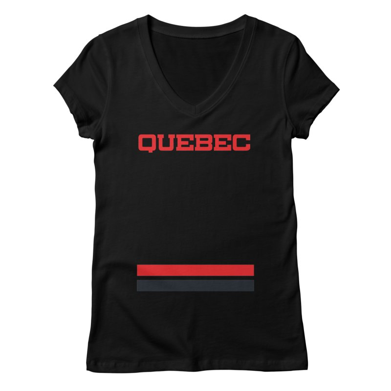 Quebec Hockey Jersey  Women's Regular V-Neck by Lads of Fortune Artist Shop