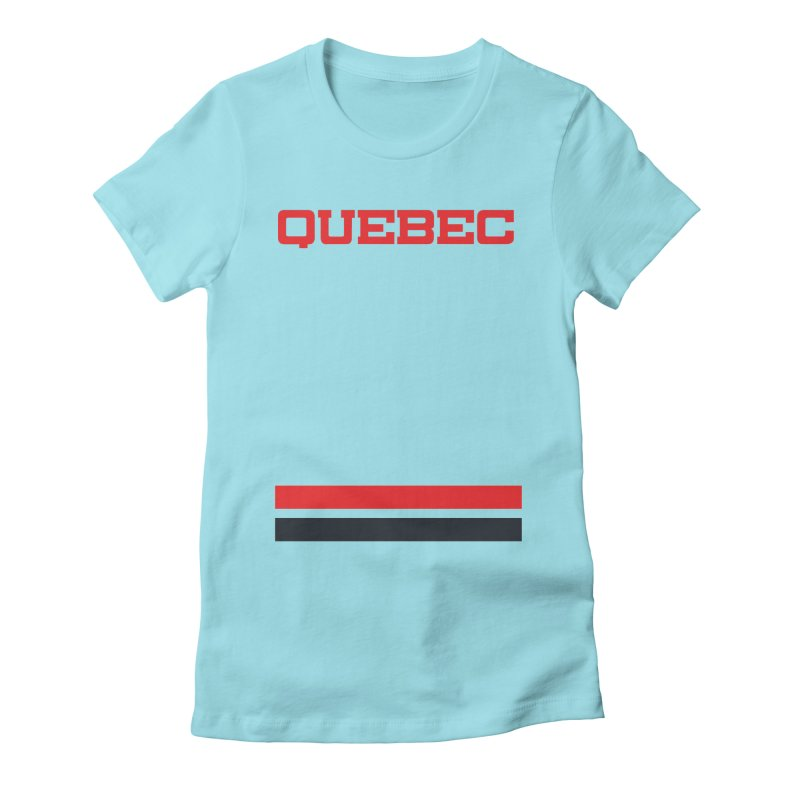 Quebec Hockey Jersey  Women's Fitted T-Shirt by Lads of Fortune Artist Shop