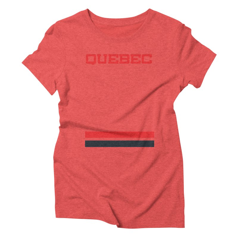 Quebec Hockey Jersey  Women's Triblend T-shirt by Lads of Fortune Artist Shop