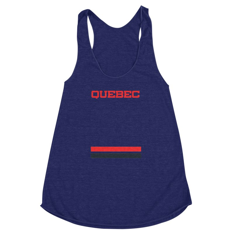 Quebec Hockey Jersey  Women's Racerback Triblend Tank by Lads of Fortune Artist Shop