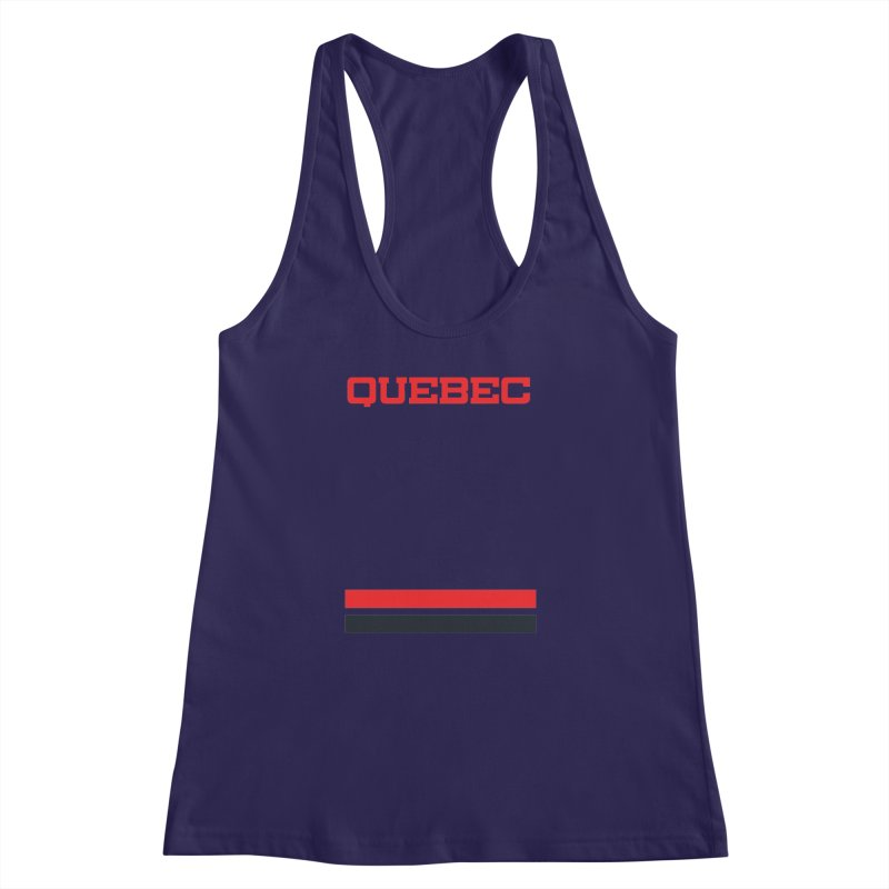 Quebec Hockey Jersey  Women's Racerback Tank by Lads of Fortune Artist Shop