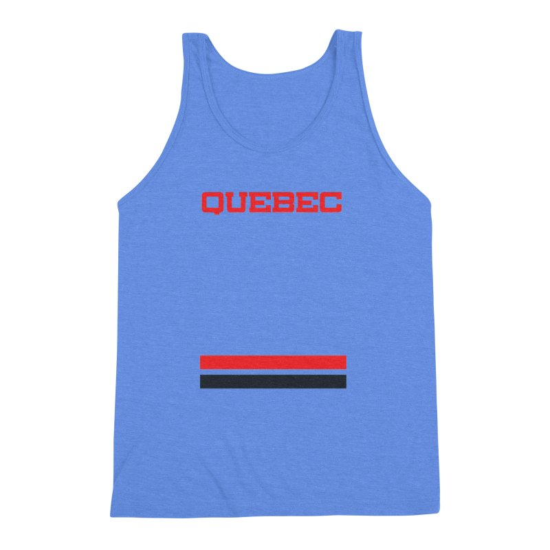 Quebec Hockey Jersey  Men's Triblend Tank by Lads of Fortune Artist Shop