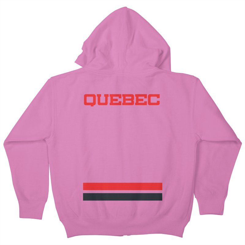 Quebec Hockey Jersey  Kids Zip-Up Hoody by Lads of Fortune Artist Shop