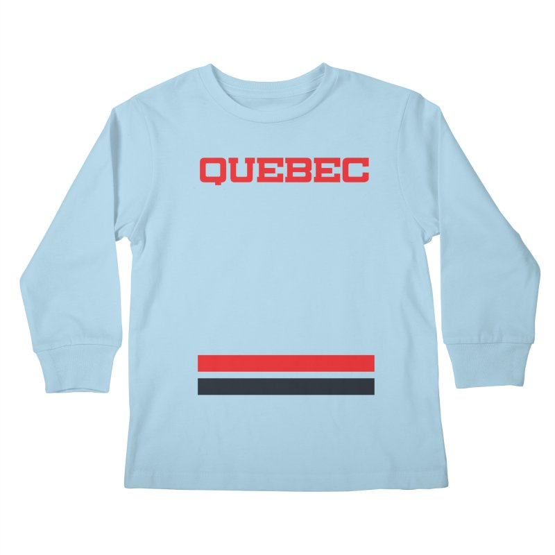Quebec Hockey Jersey  Kids Longsleeve T-Shirt by Lads of Fortune Artist Shop