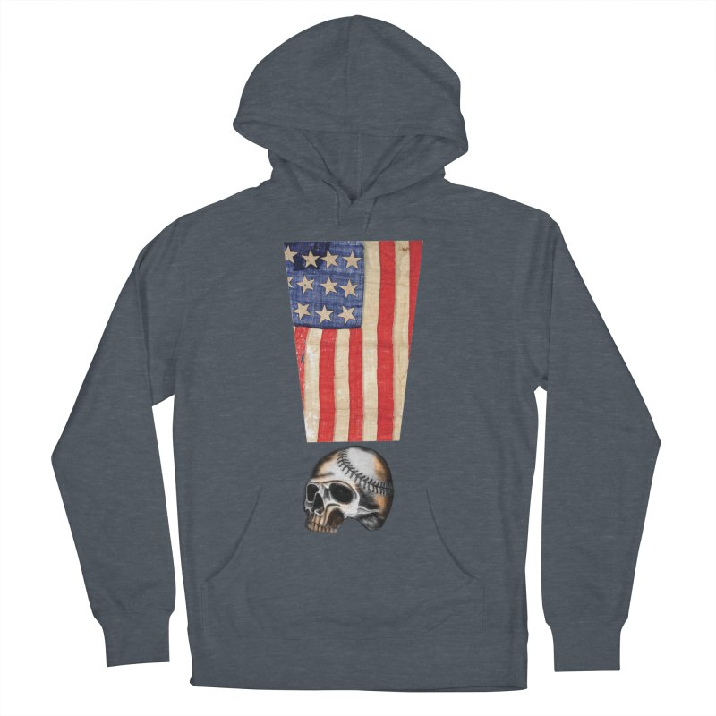 American Baseball Fan Women's French Terry Pullover Hoody by Lads of Fortune Artist Shop