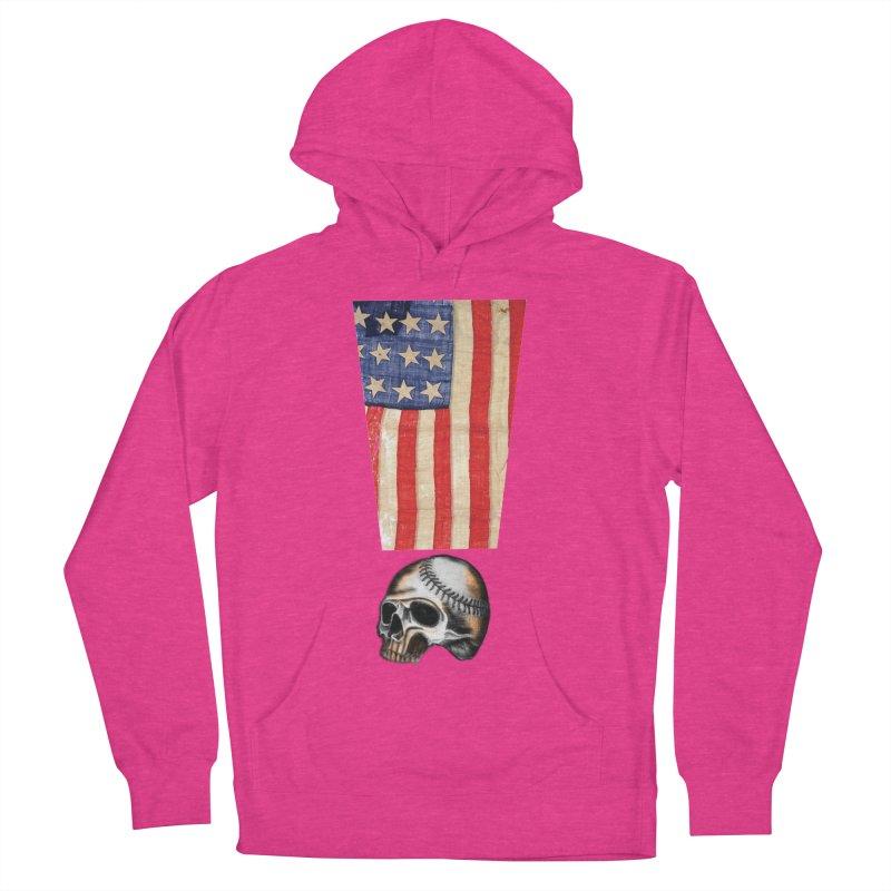American Baseball Fan Women's Pullover Hoody by Lads of Fortune Artist Shop