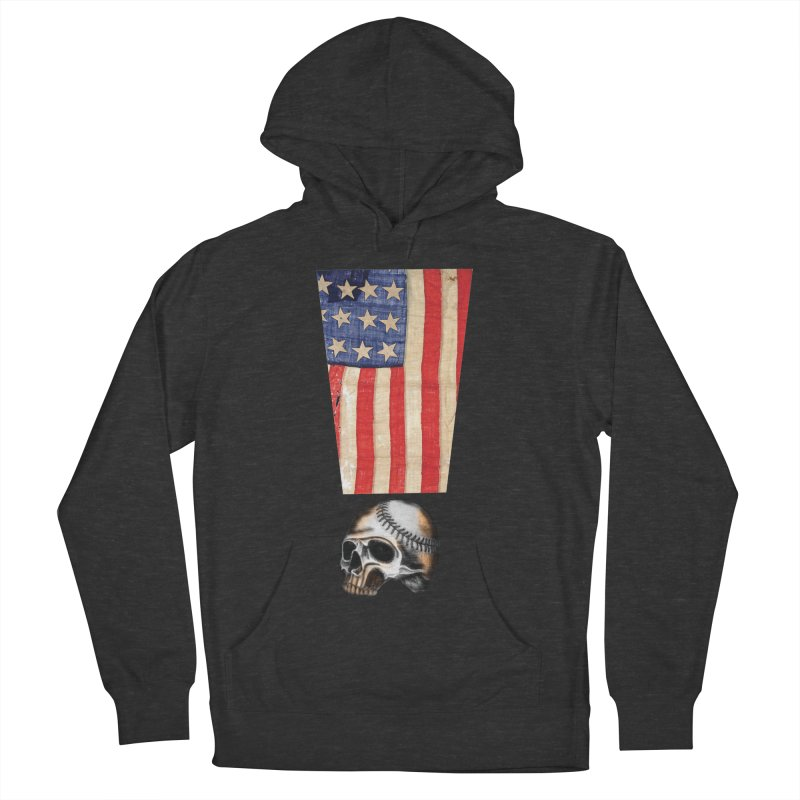American Baseball Fan Men's French Terry Pullover Hoody by Lads of Fortune Artist Shop