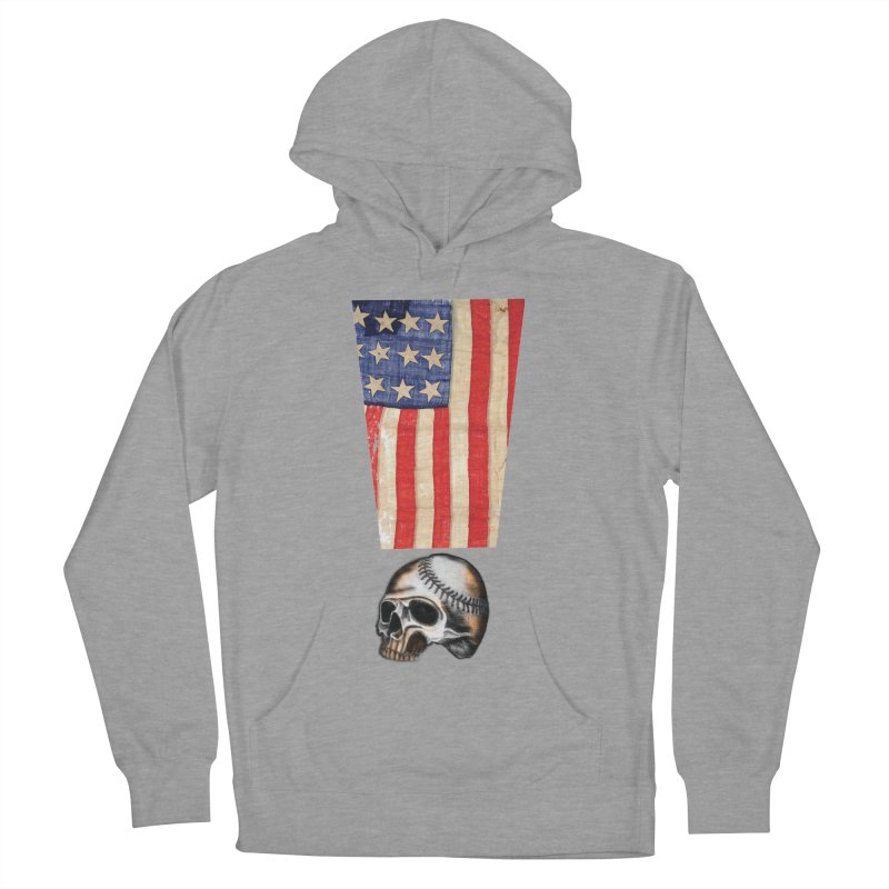 American Baseball Fan Men's Pullover Hoody by Lads of Fortune Artist Shop